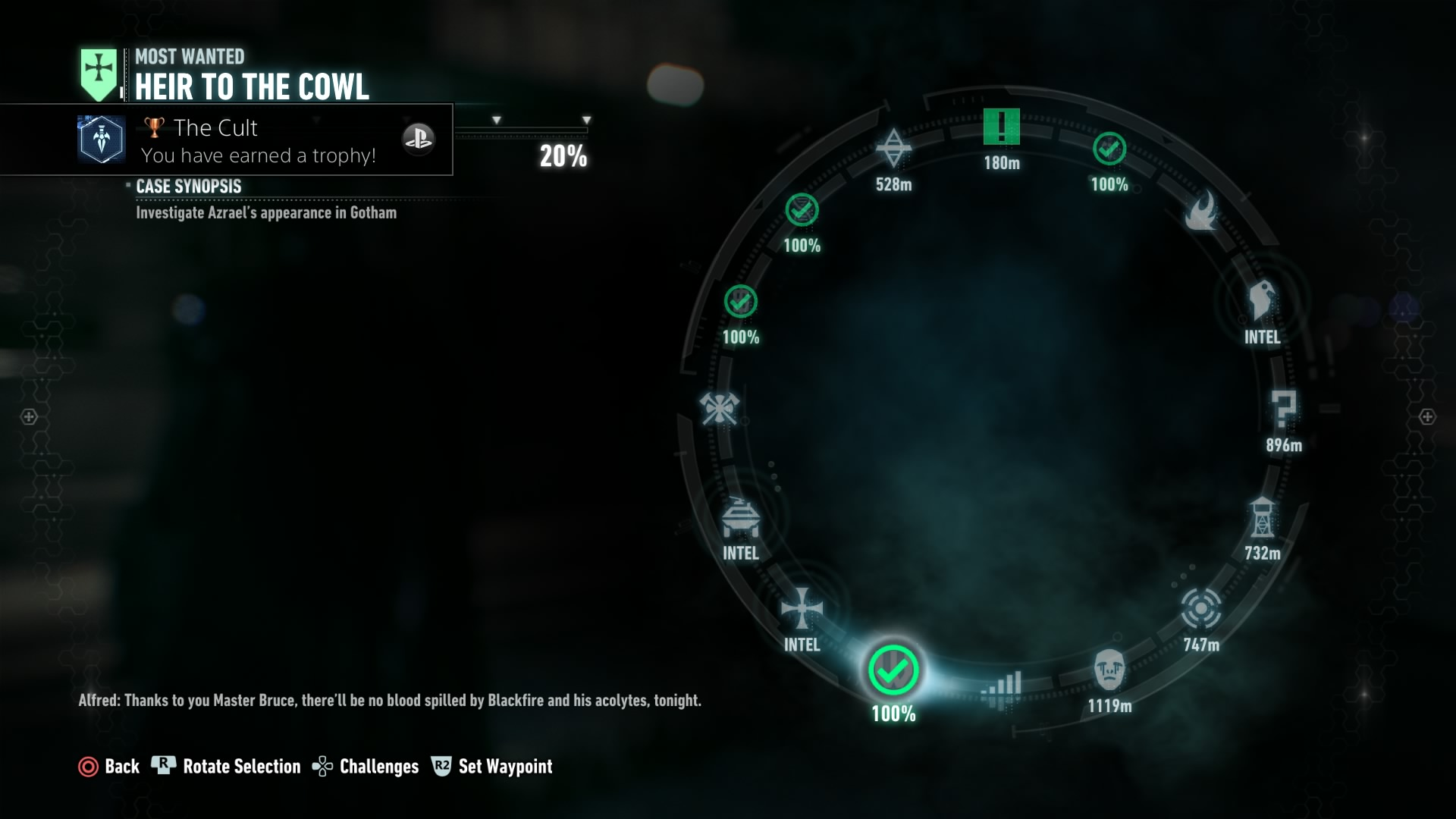 Image result for arkham knight missions wheel